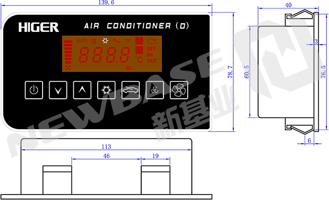 automatic    air    conditioning controller internal climate control of bus